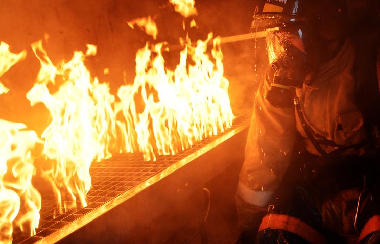 12.12.16 — В МЧС назвали вероятную причину пожара в бане в Воронеже
