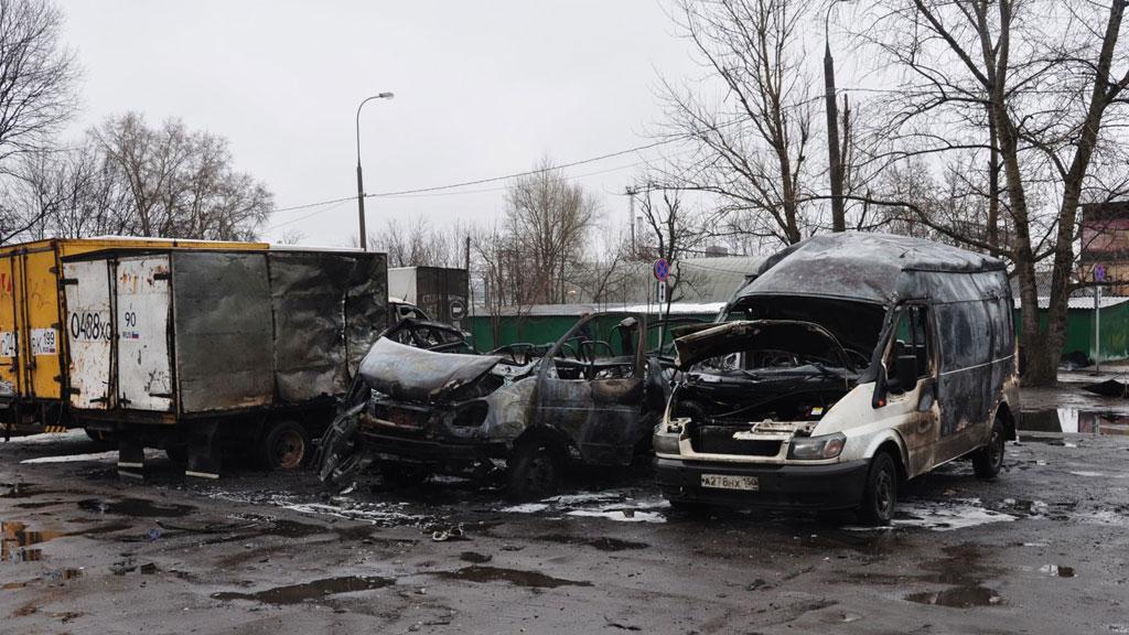 02.04.17 — взрыв газового оборудования в автомобиле в Москве.