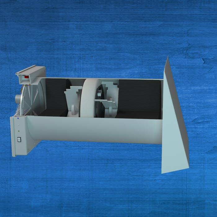 Возможное техническое решение по обустройству притока воздуха для горения в помещение