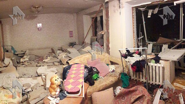 05.07.17 — РЕН ТВ публикует фото из квартиры пострадавшего в результате взрыва газа дома в Химках.