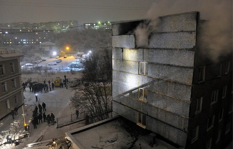 25.11.17 — взрыв газа в многоквартирном доме в Мурманске
