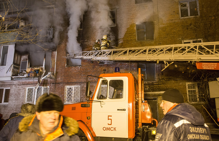 12.01.18 — взрыв газа в многоквартирном доме в Омске