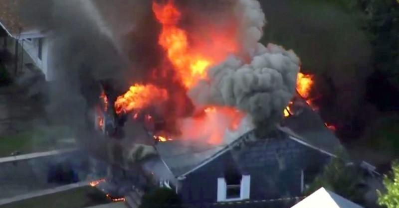 14.09.18 — множественные взрывы газа в частных домах в шт.Массачусетс (США)