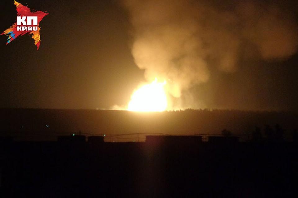 03.03.18 — прорыв и факельное горение магистрального газопровода в Нижегородской области