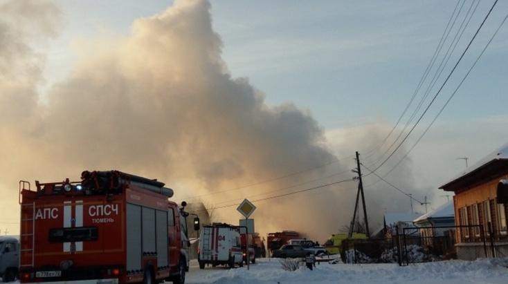 08.02.19 — взрыв газового баллона в частном доме в Тюменской области