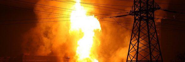 13.03.19 — взрыв и факельное горение магистрального газопровода в Ханты-Мансийском АО