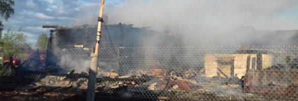 19.05.19 — неправильная эксплуатация газового оборудования привела к пожару в частном доме в Ульяновской области (Ясачный Сызган)