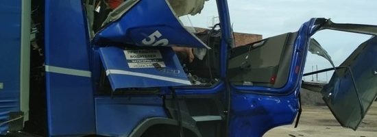 28.06.19 — взрыв газового баллона в кабине грузового автомобиля в Кемеровской области (Мариинск)