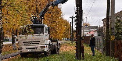 05.10.19 — повреждение газопровода при установке эл.опор в Рязанской обл.