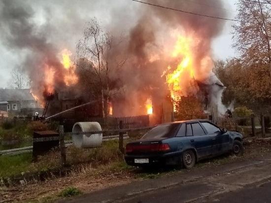 Взрыв газа полностью уничтожил дом на окраине Архангельска