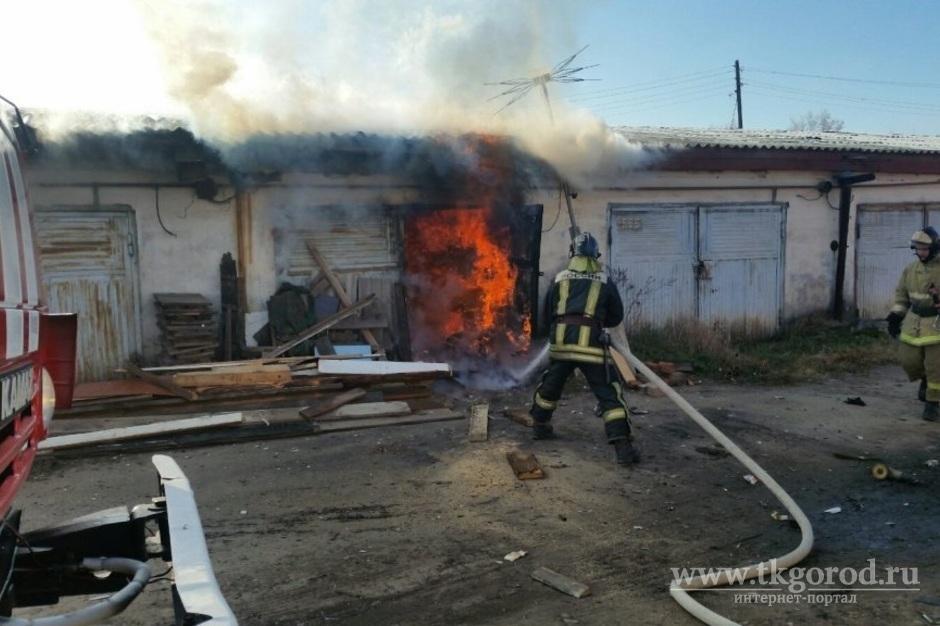 В Братске при проведении работ в гараже хлопок газа привел к пожару