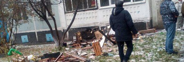 26.10.19 — взрыв газа (газового баллона) в квартире в Новокузнецке