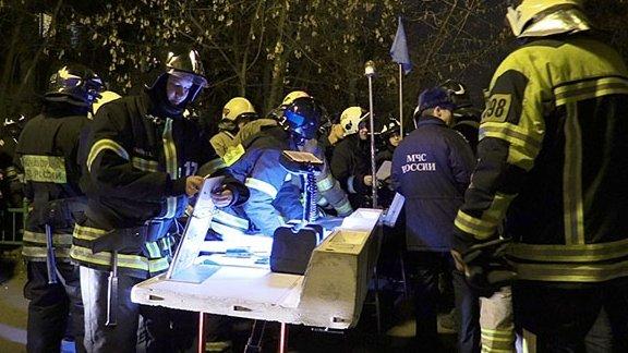 Сильная утечка газа произошла на востоке Москвы из-за влетевшего в здание автобуса