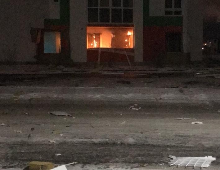 После взрыва произошел пожар