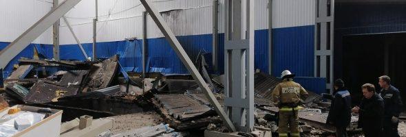 31.01.20 — взрыв газа в строящемся ангаре в Орловской области (Мценск)