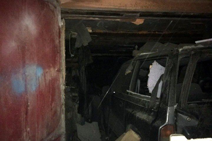 Взрыв прогремел в гаражном кооперативе в Новосибирске