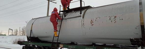 10.01.20 — В Башкортостане (Уфа) произошла утечка газаиз цистерны на станции РЖД