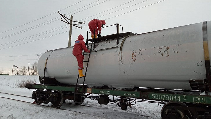 В Уфе произошла утечка газа на станции РЖД
