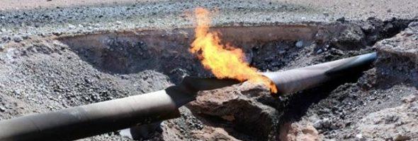 10.02.20 — повреждение газопровода выс.давления на производственной площадке из-за упавшей с крыши наледи в Новосибирской области (Мочище)