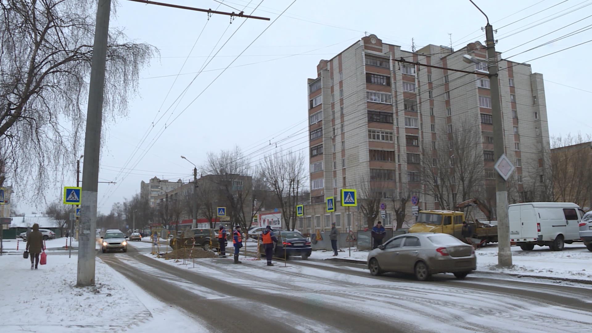 В Костроме строители повредили газопровод на улице Полянской