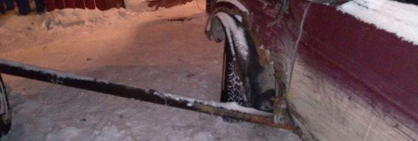 10.01.21 — повреждение газопровода в результате ДТП (Тюмень)
